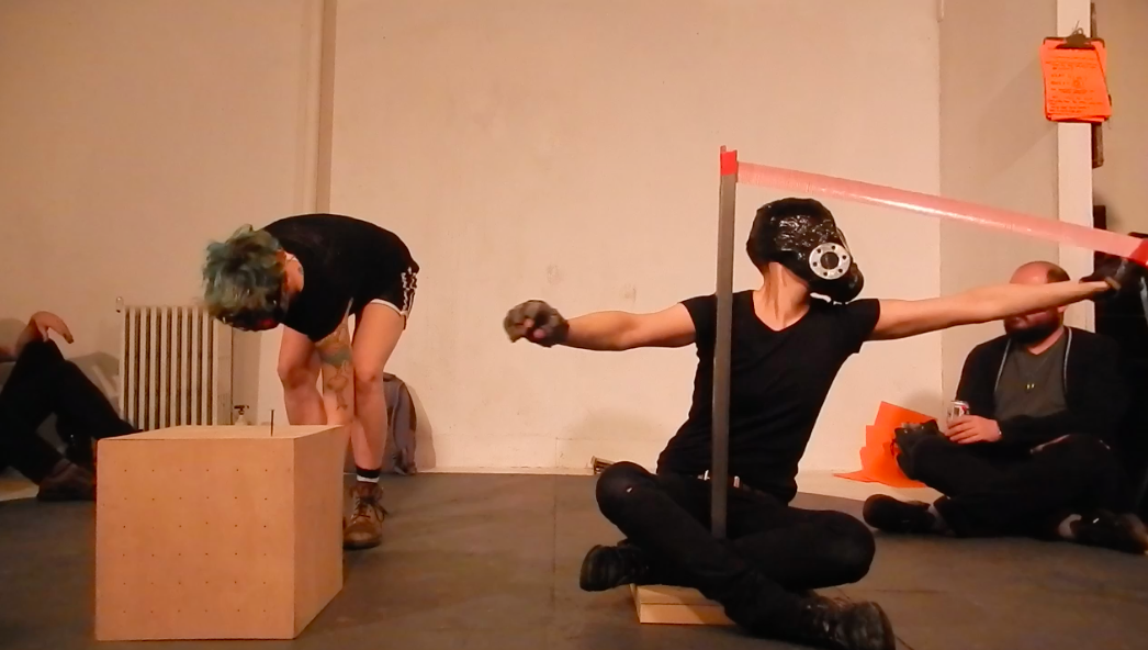 ACTION I This action was created at Panoply Performance Lab in Brooklyn, NY. In collaboration with Esther Neff the action was created based on two objects and two tasks.
