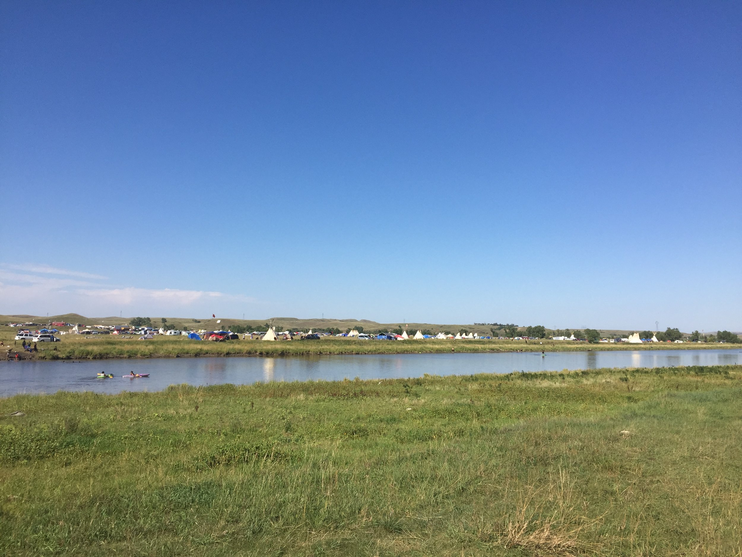Water protectors camp at Standing Rock, North Dakota. Image capture: August 28th, 2016