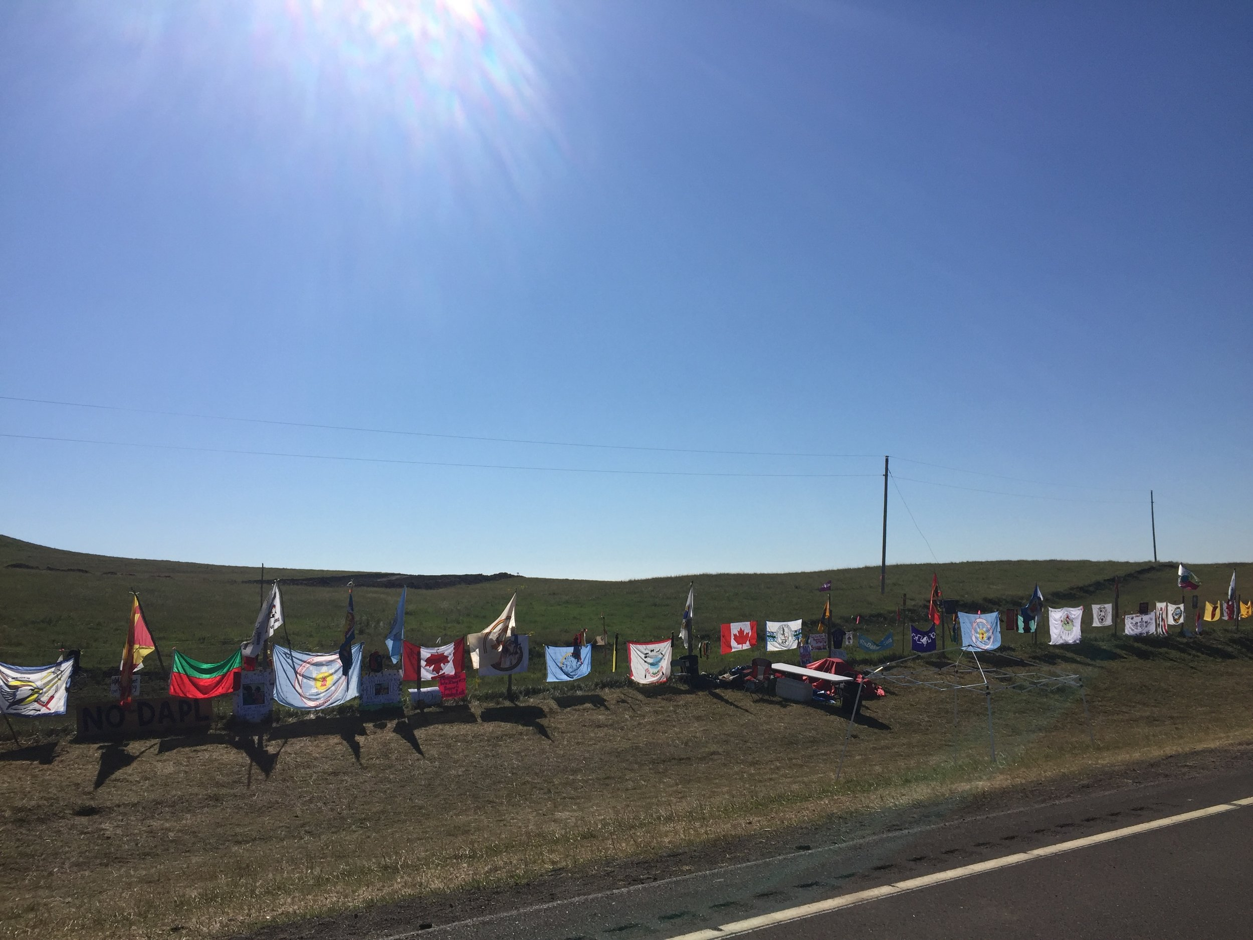 Flags from all nations represented at Standing Rock, North Dakota. Image capture: August 28th, 2016