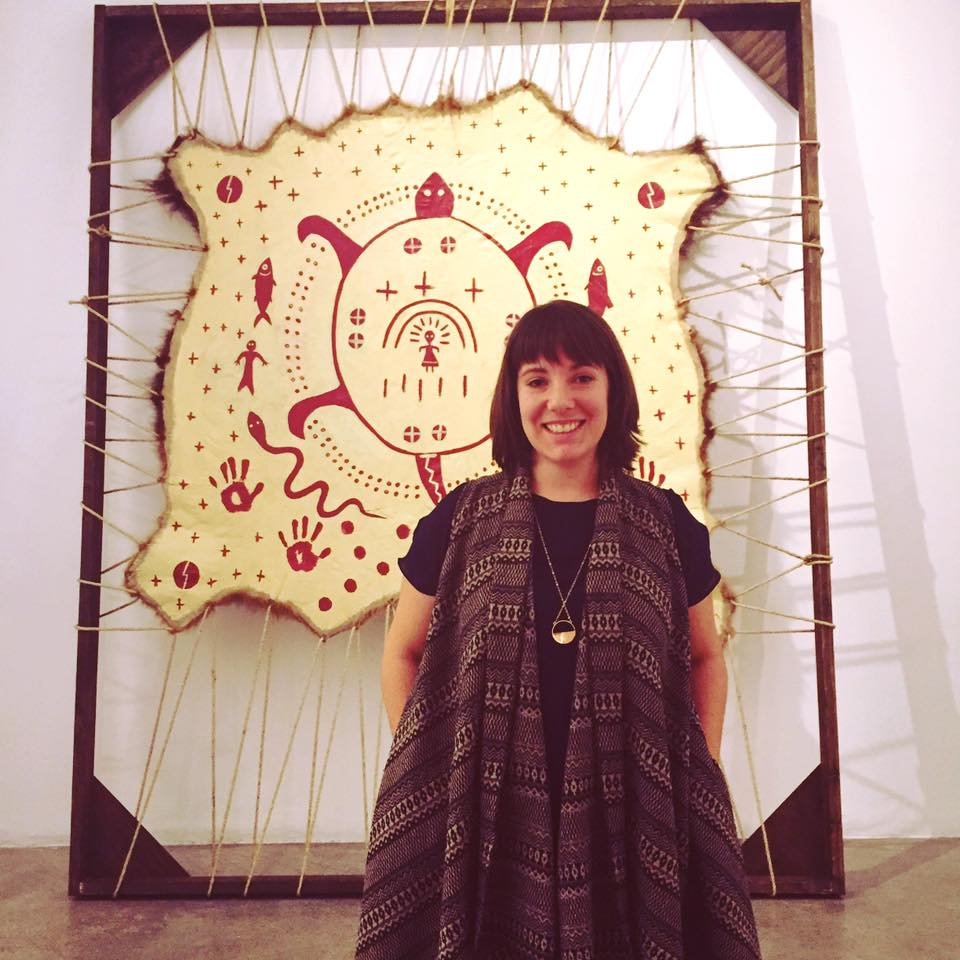 Curator/organizer Tarah Hogue at grunt gallery, Vancouver BC