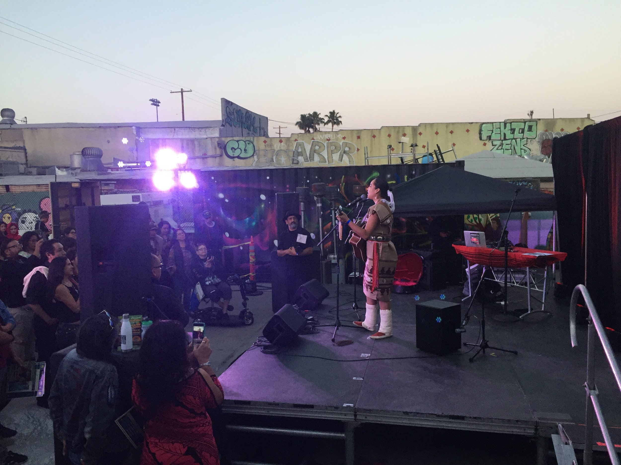 Lyla June performing live at Self Help Graphics and Art in L.A. for The Art Of Indigenous Resistance. 2017
