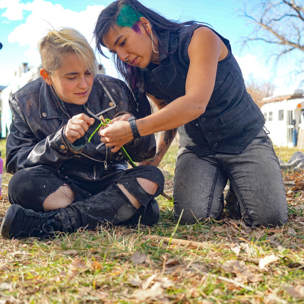 Queer Nature bow drill workshop