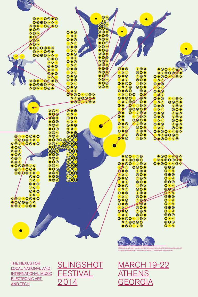 Slingshot Festival Identity and Poster Design, 2014