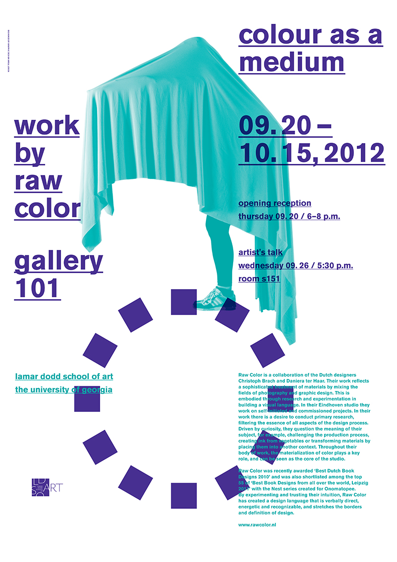 Poster for Raw Color's Exhibition, 2012