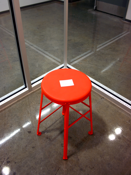 Invisible Boundary & Security Chair, 2009