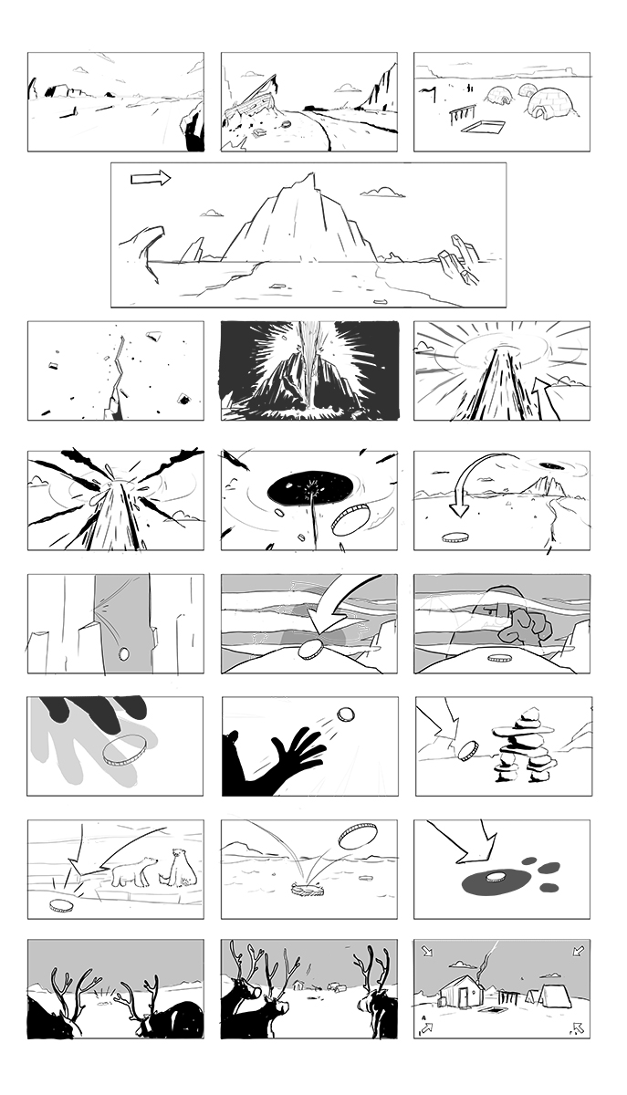 Early Intro storyboard