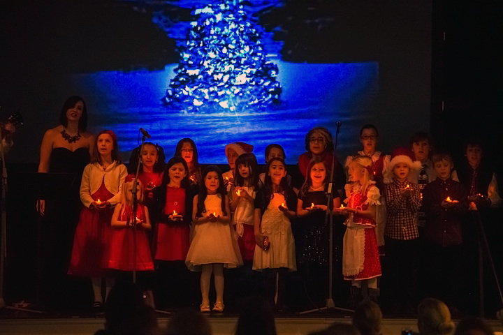 Pavlina Horáková with the Children's Choir from the Czech & Slovak Cultural Center in Astoria