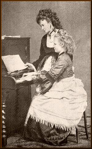 Josefina and Anna Čermáková circa 1868.