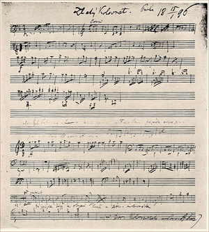 Sketch for the symphonic poem the  Golden Spinning Wheel , 1896.