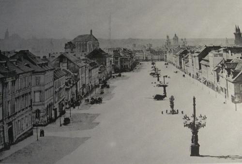 Wenceslas Square in Prague, 1859