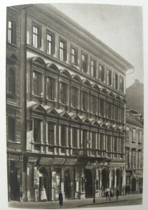The building on Žitná Street in Prague where Dvořák lived from late in 1877 until his death.