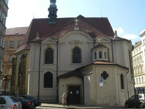 Church of St. Vojtěch (St. Adalbert) in Prague where Dvořák served three years as organist.