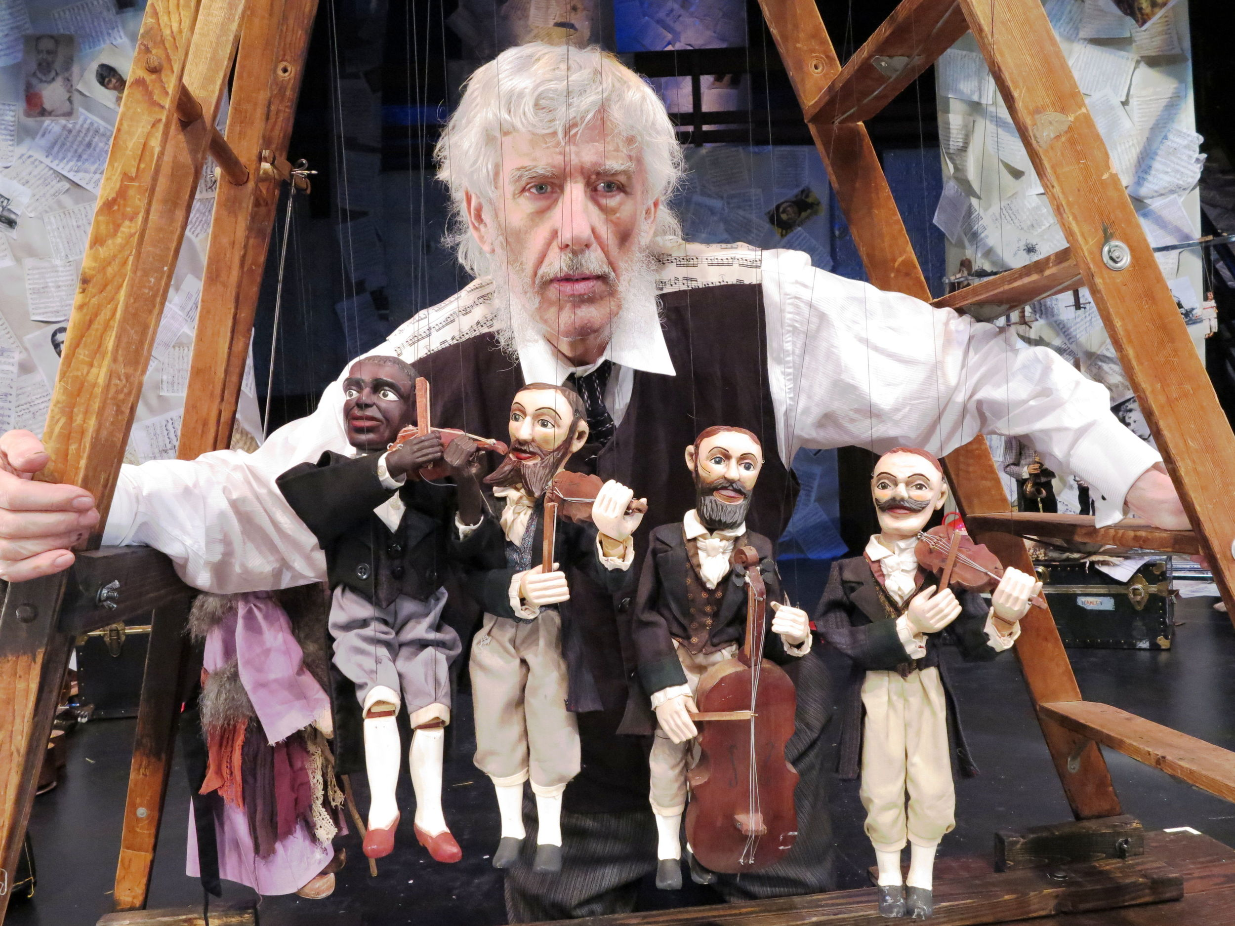 Vit Horejs with marionettes. Photo by Jonathan Slaff