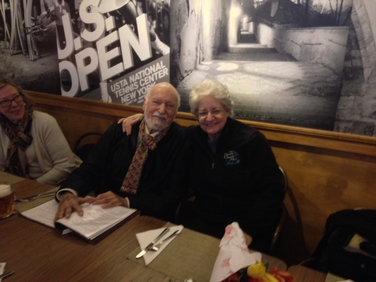 Maestro Maurice Peress and Cellist Marcy Rosen post-concert at Bohemian Spirit Restaurant.  Photo credit: DAHA