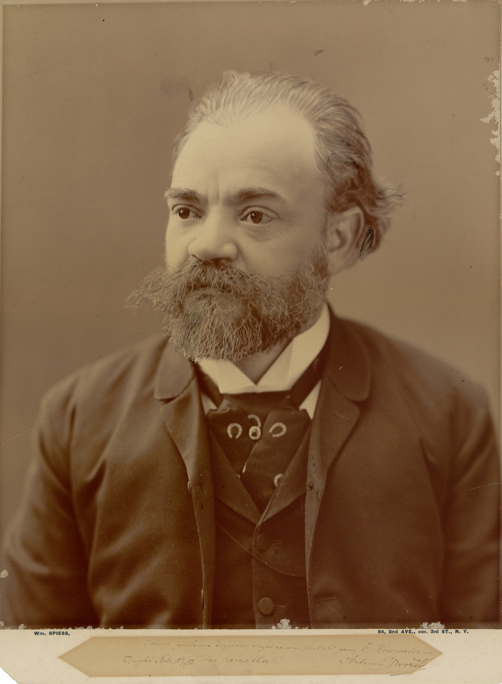 Antonín Dvořák, circa 1893. DAHA Archive.