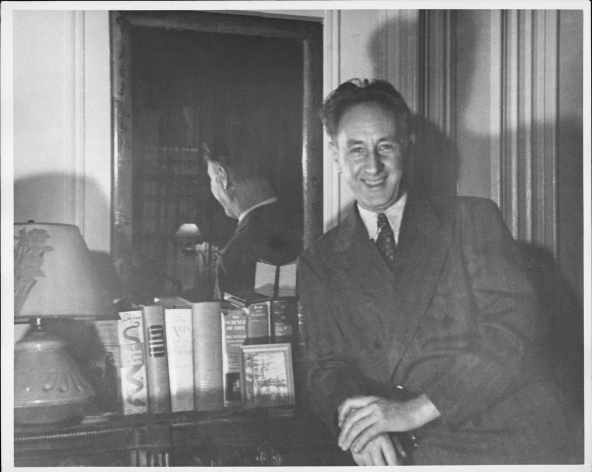 Bohuslav Martinů in his New York apartment, 1942-43.  Photo Bohuslav Martinů Centre in Polička, Czech Republic.