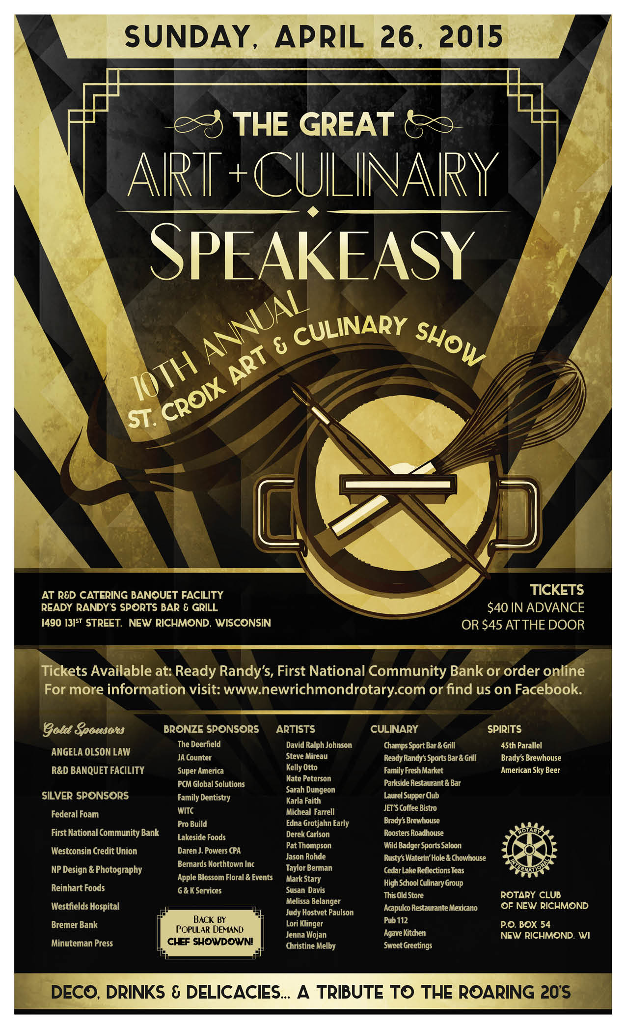 Legal Poster for St. Croix Art & Culinary Show 2015