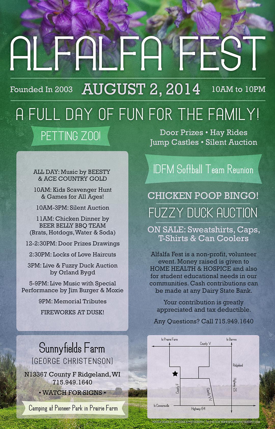 11x17 Poster for Alfalfa Fest 2015