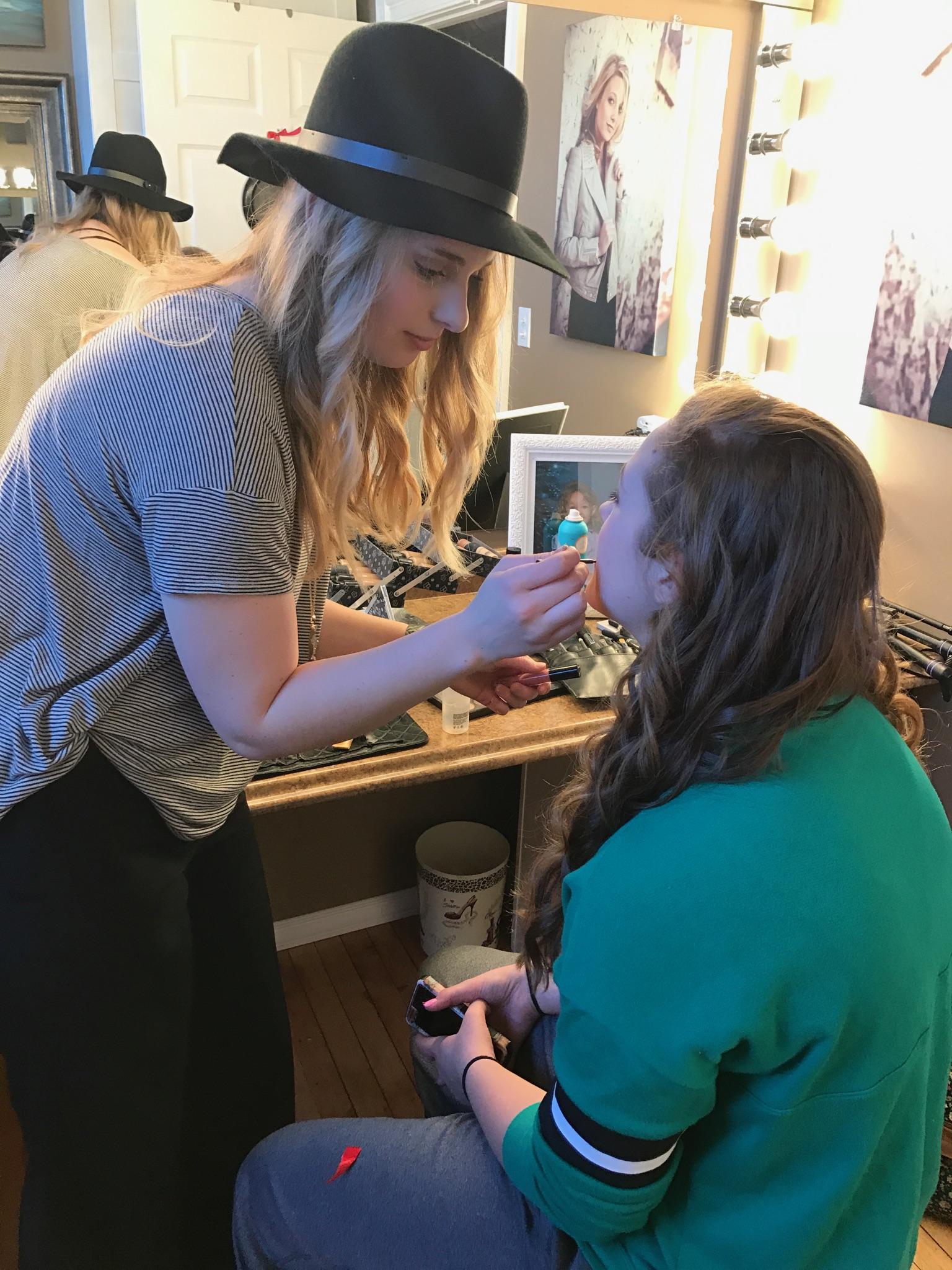 Jenna working with NP Design & Photography Senior Model Taylor Ramaeker.