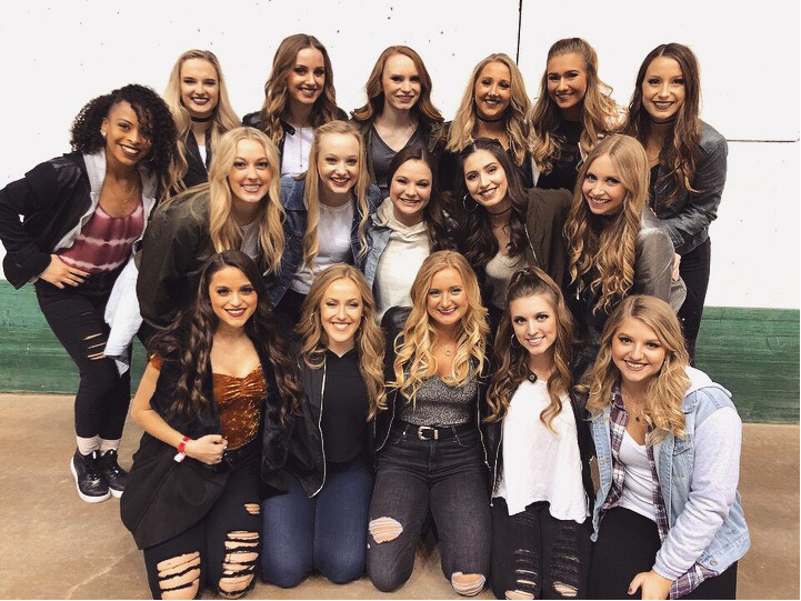 The University of St. Thomas Dance Team.