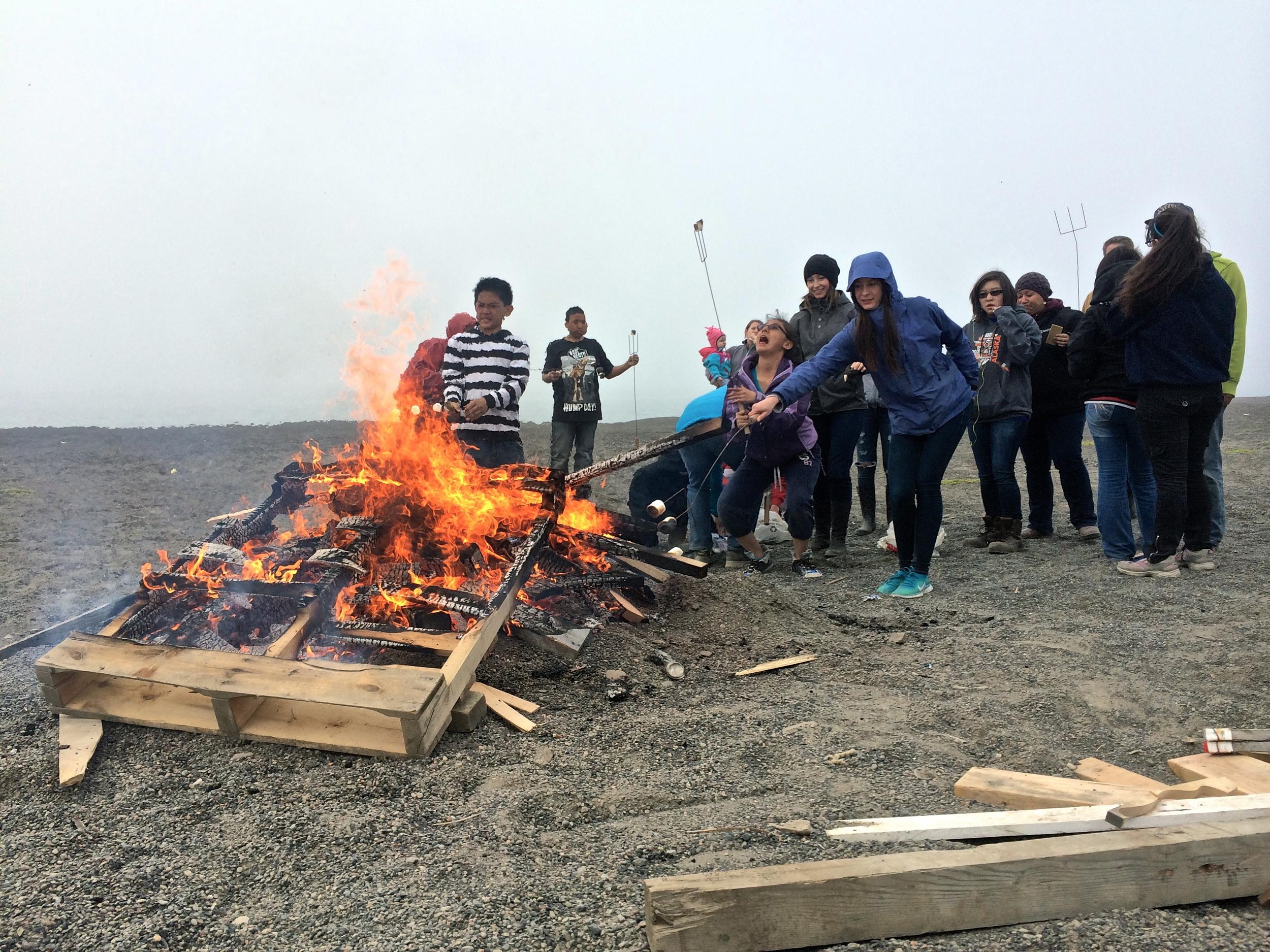 Marshmallow roasting time!