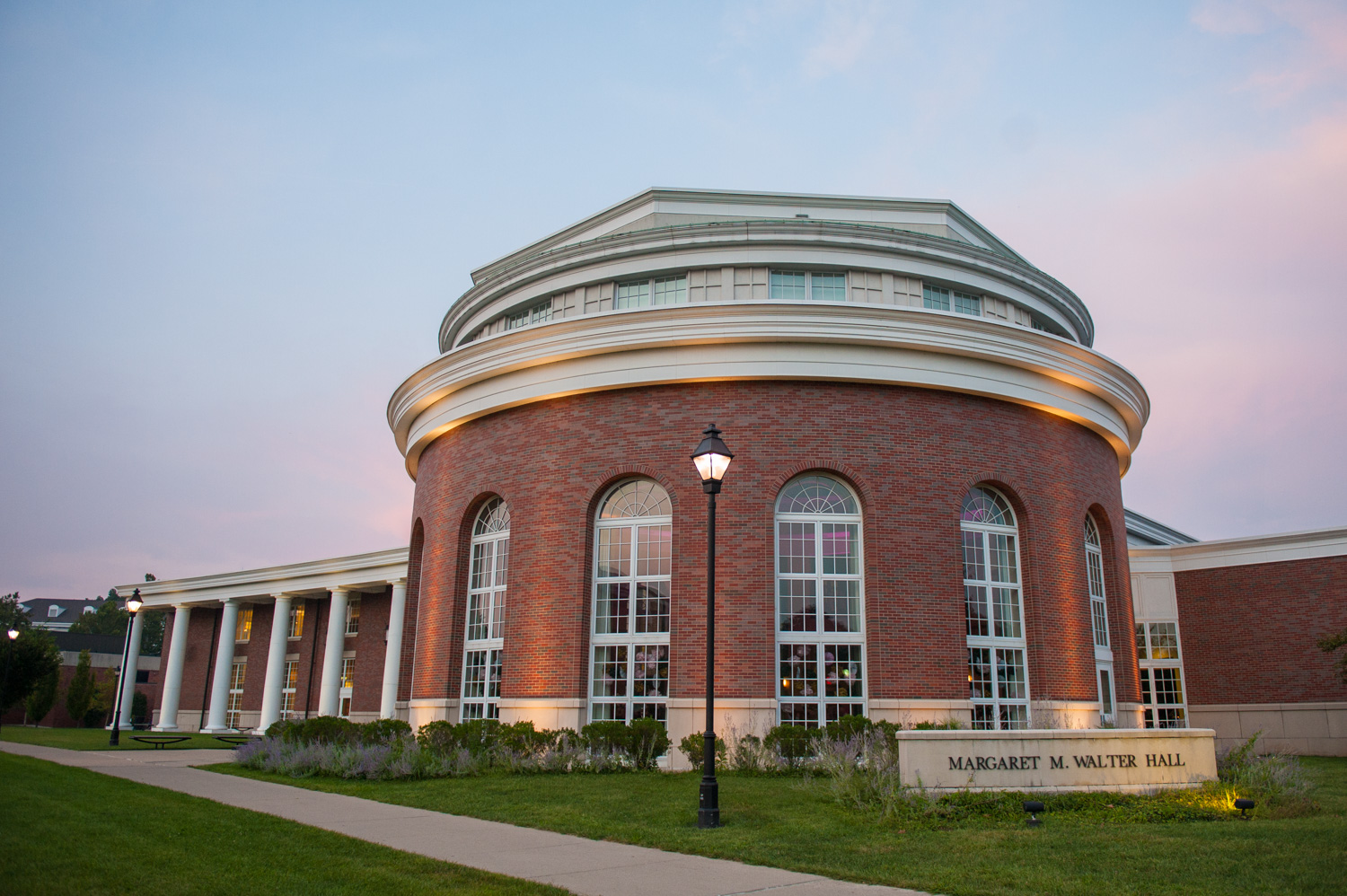 Walter Hall at Ohio University in Athens, OH.