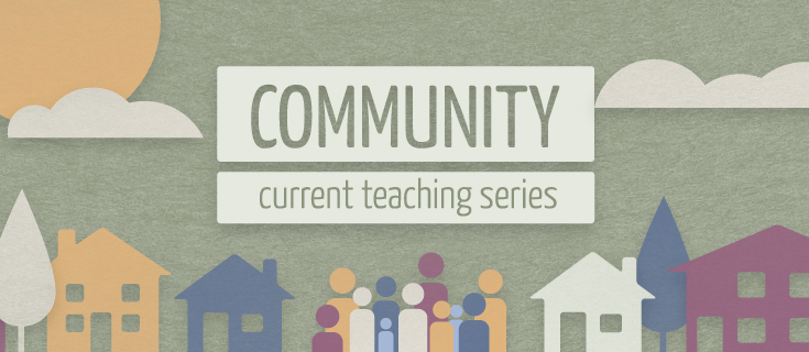 Weekly teaching series graphic. Used online and projected during public services.