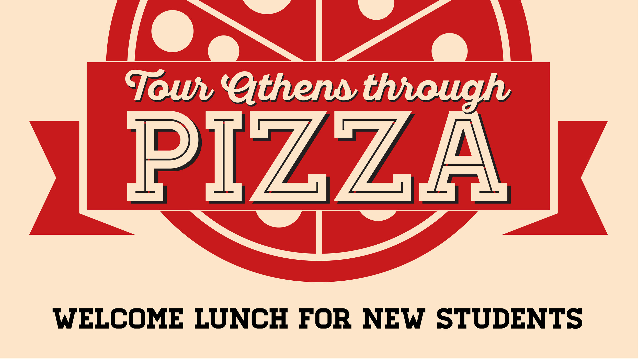 A promotional graphic for a welcome lunch.