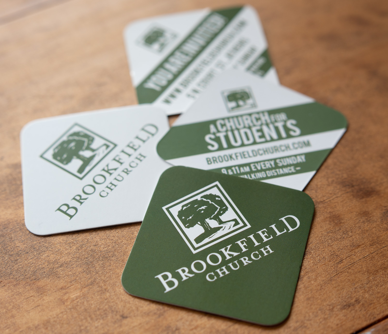 Invitation cards for Brookfield Church in Athens, Ohio.