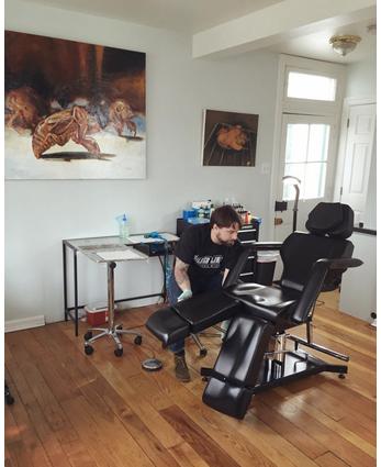Inside of Silver Lining Tattoo Studio