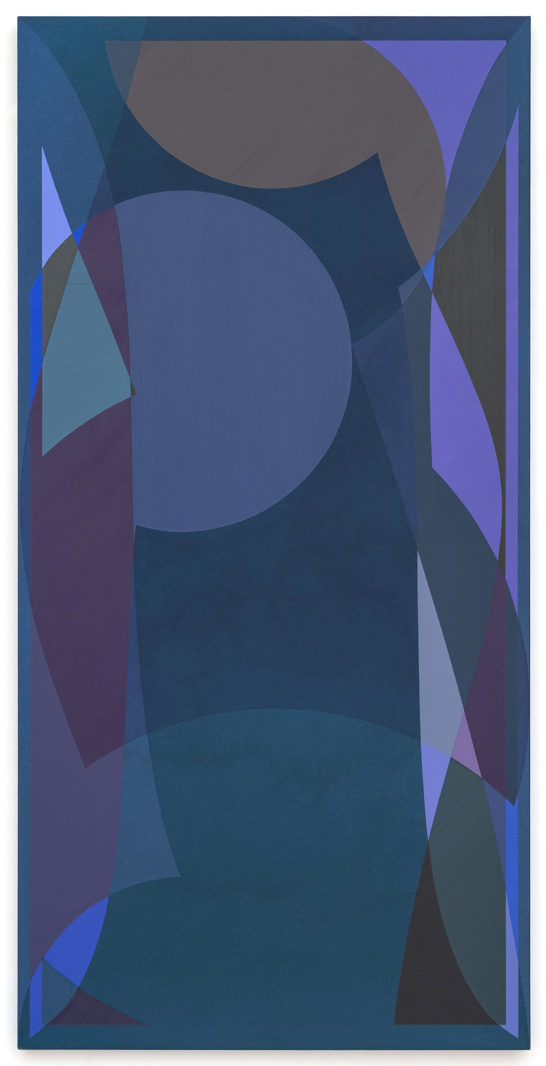 Halsey Hathaway, Untitled, 2013, Acrylic on dyed canvas, 60 x 30 inches