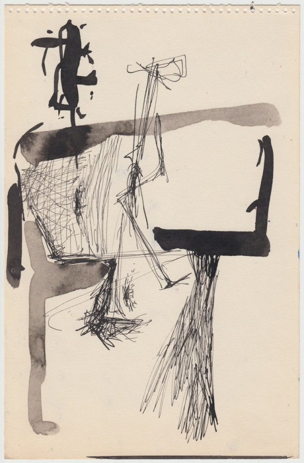 Malcolm McClain, Untitled, Ink on paper, 9.75 x 6.375 inches