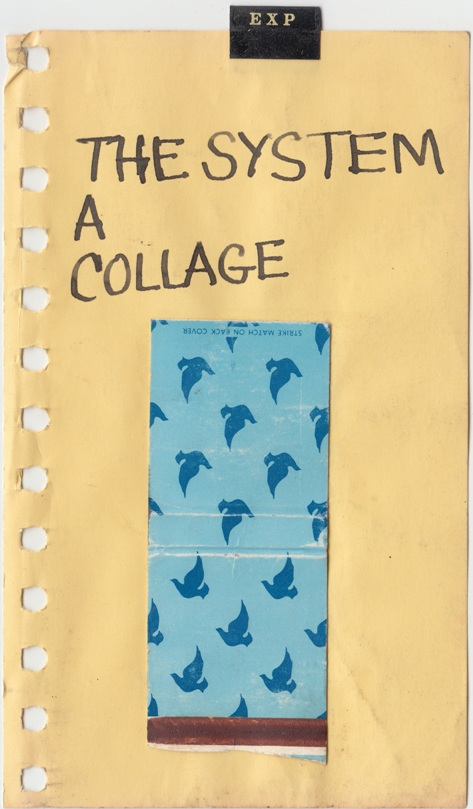 Malcolm McClain,  The System A Collage , c.mid-1970s, Ink and collage on paper, 7.5 x 3.875 inches