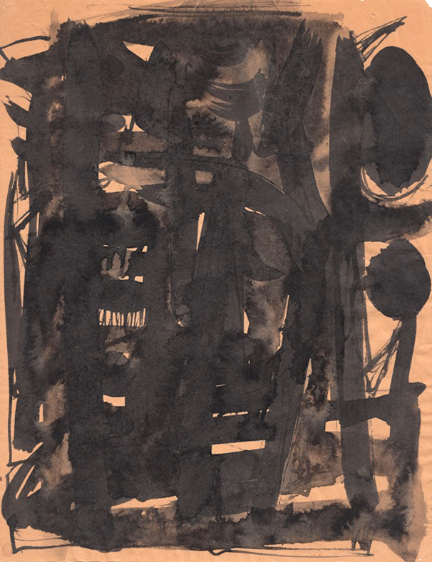 Malcolm McClain, Untitled, c. 1960, Ink on paper, 11 x 8.5 in