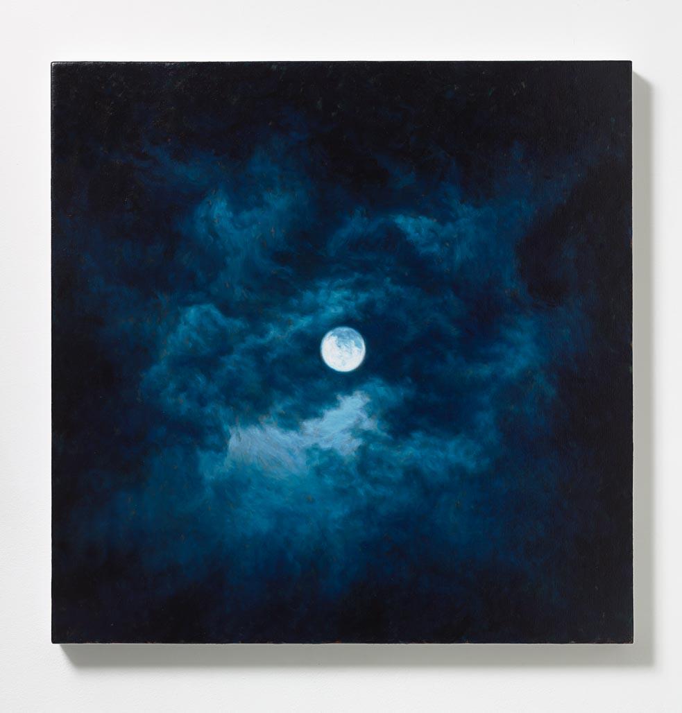 Peter Rostovsky,  Moon 1 , 2015, Oil on linen, 30 x 30 in (76.20 x 76.20 cm)
