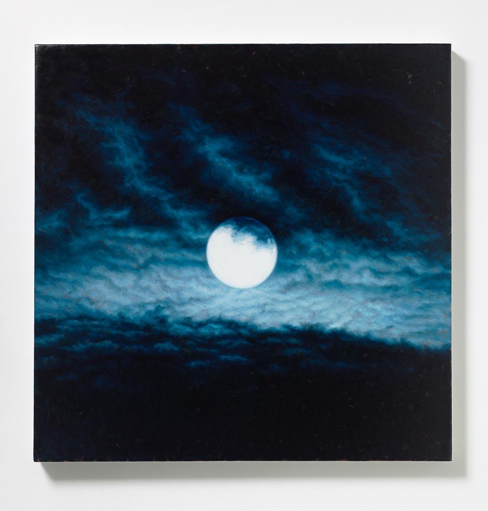 Peter Rostovsky,  Moon 2 , 2015, Oil on linen, 30 x 30 in (76.20 x 76.20 cm)