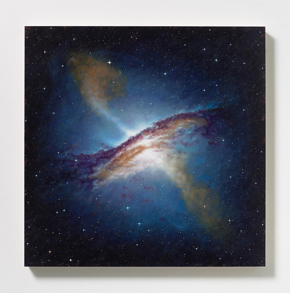 Peter Rostovsky,  Vortex 1 , 2015, Oil and acrylic on masonite, 24 x 24 in (60.96 x 60.96 cm)