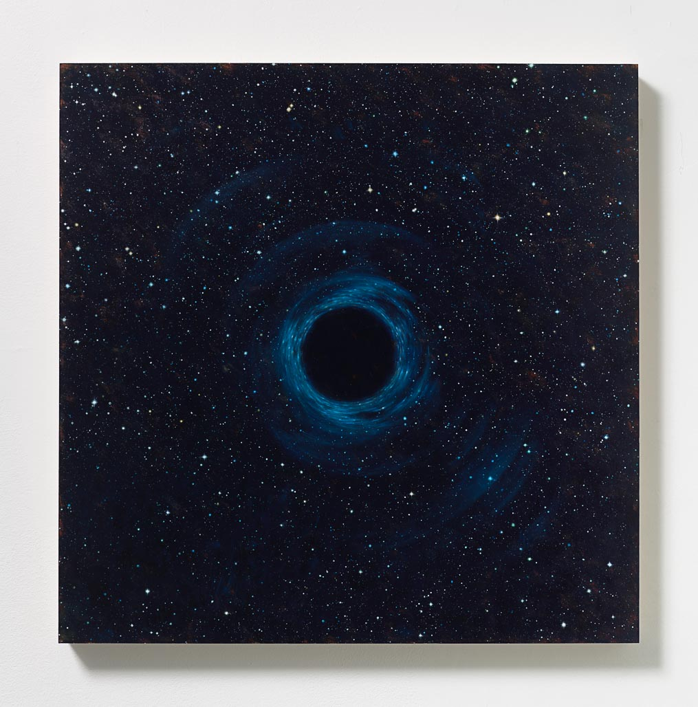 Peter Rostovsky,  Vortex 2 , 2015, Oil and acrylic on masonite, 24 x 24 in (60.96 x 60.96 cm)