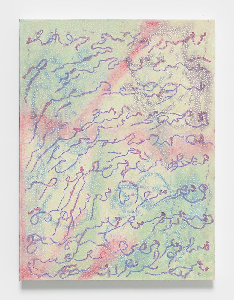 Nadia Haji Omar, Untitled, 2016, Acrylic and dye on canvas, 24 x 18 inches (60.96 x 45.72 cm), NHO 1031