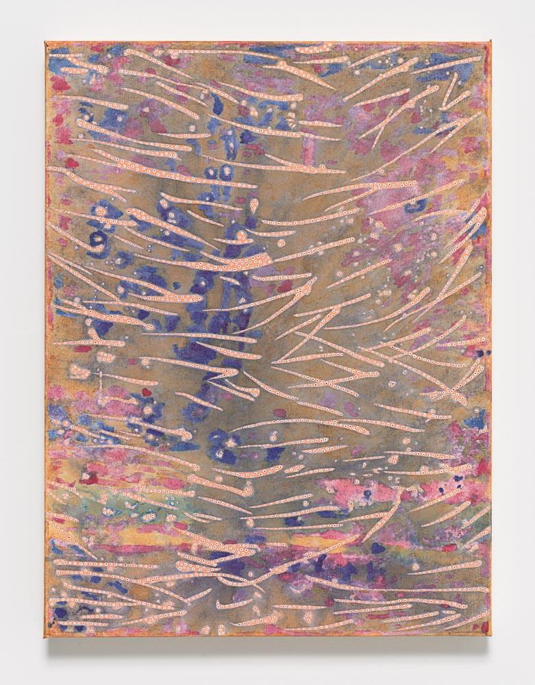 Nadia Haji Omar, Untitled, 2016, Acrylic and dye on canvas, 24 x 18 inches (60.96 x 45.72 cm), NHO 1027