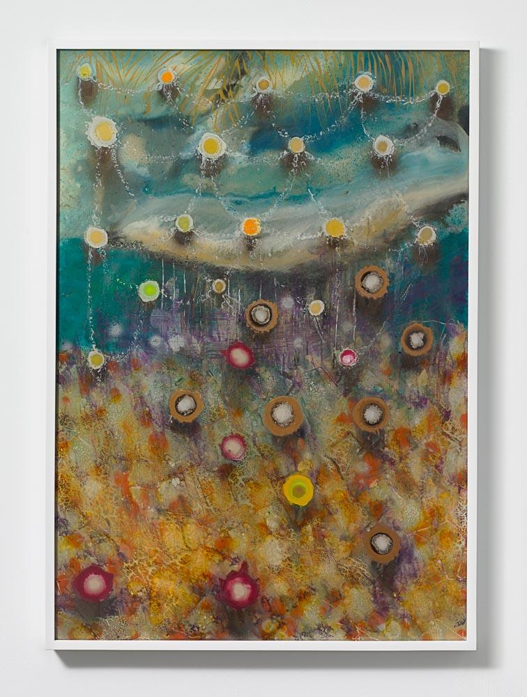 Giacinto Occhionero,  Bouncing Drops , 2016,Spray paint on plexiglass,40 1/16 x 28 7/16 inches (101.76 x 72.23 cm)