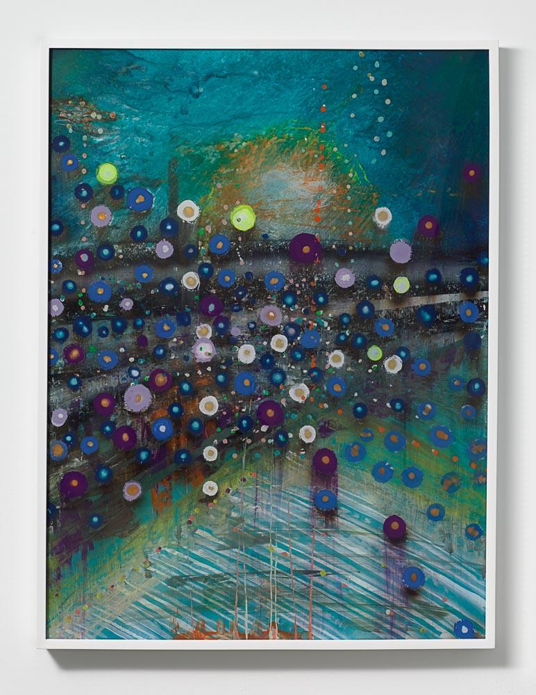 Giacinto Occhionero,  Dodgers Blue , 2016,Spray paint on plexiglass,40 3/16 x 30 1/4 inches (102.08 x 76.83 cm)