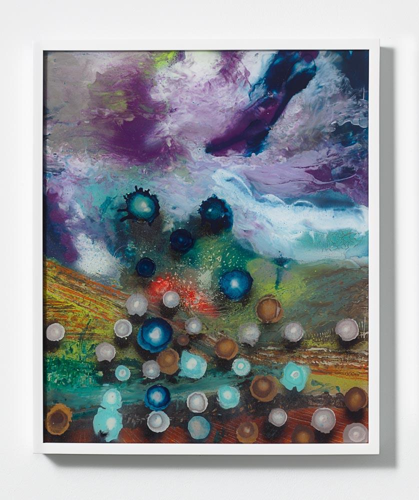 Giacinto Occhionero,  Hurricane Veronika , 2016,Spray paint on plexiglass,24 7/16 x 20 1/2 inches (62.07 x 52.07 cm)