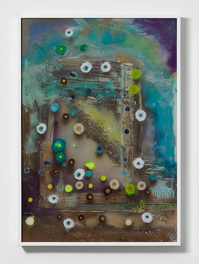 Giacinto Occhionero,  Reversibility Arch , 2016,Spray paint on plexiglass,40 1/8 x 28 3/8 inches (101.92 x 72.07 cm)