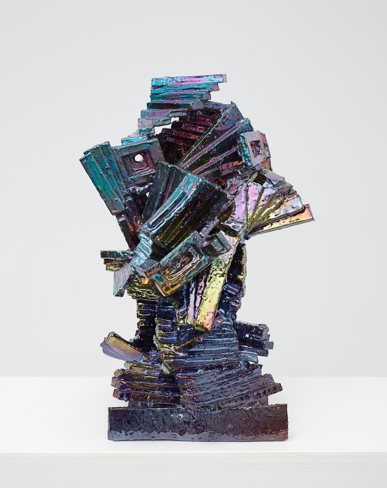 Julia Kunin,  Purple Ruin , 2014, Ceramic, 16 x 11 x 11 inches