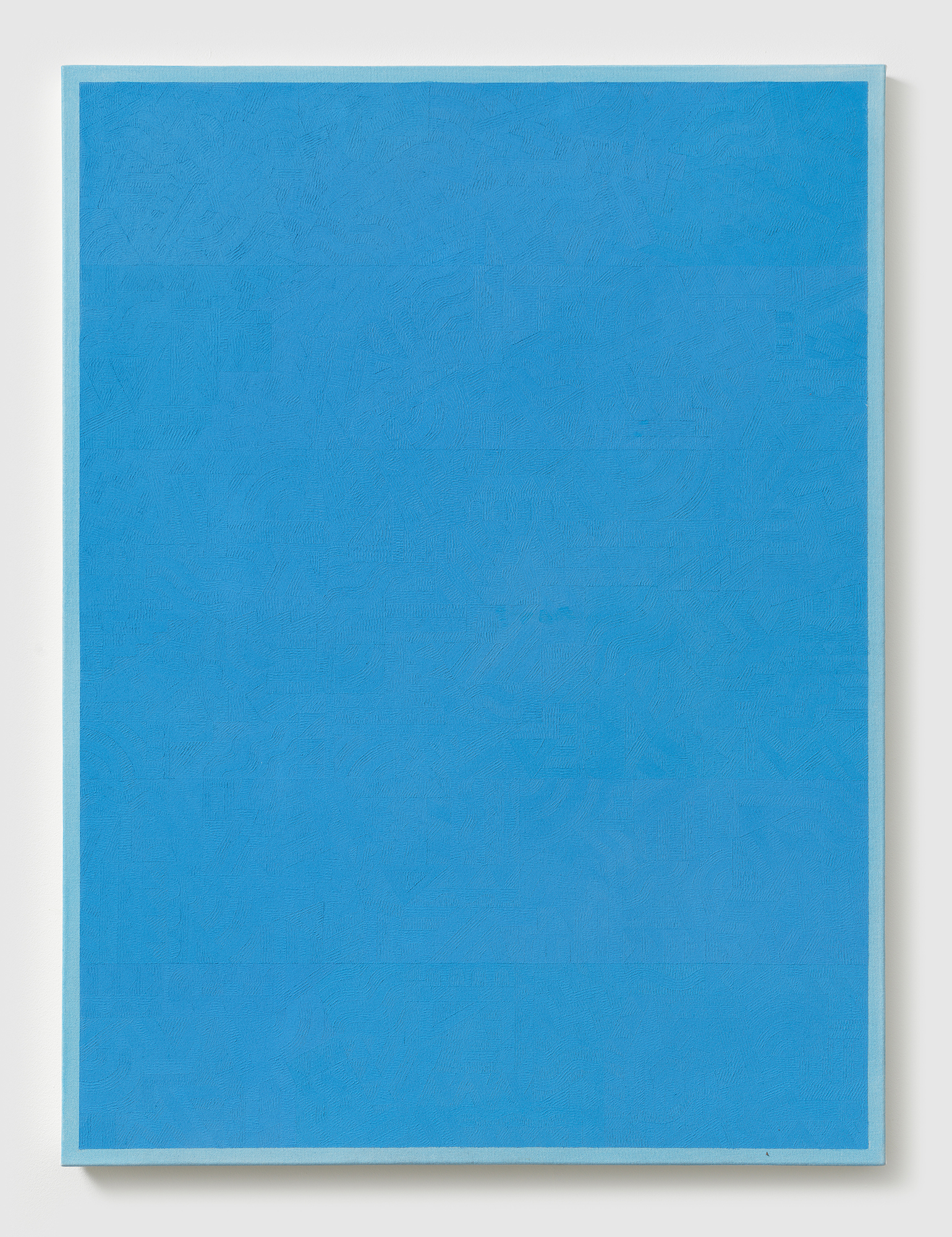 Timothy Hull, Untitled Hellenism Blue, 2017