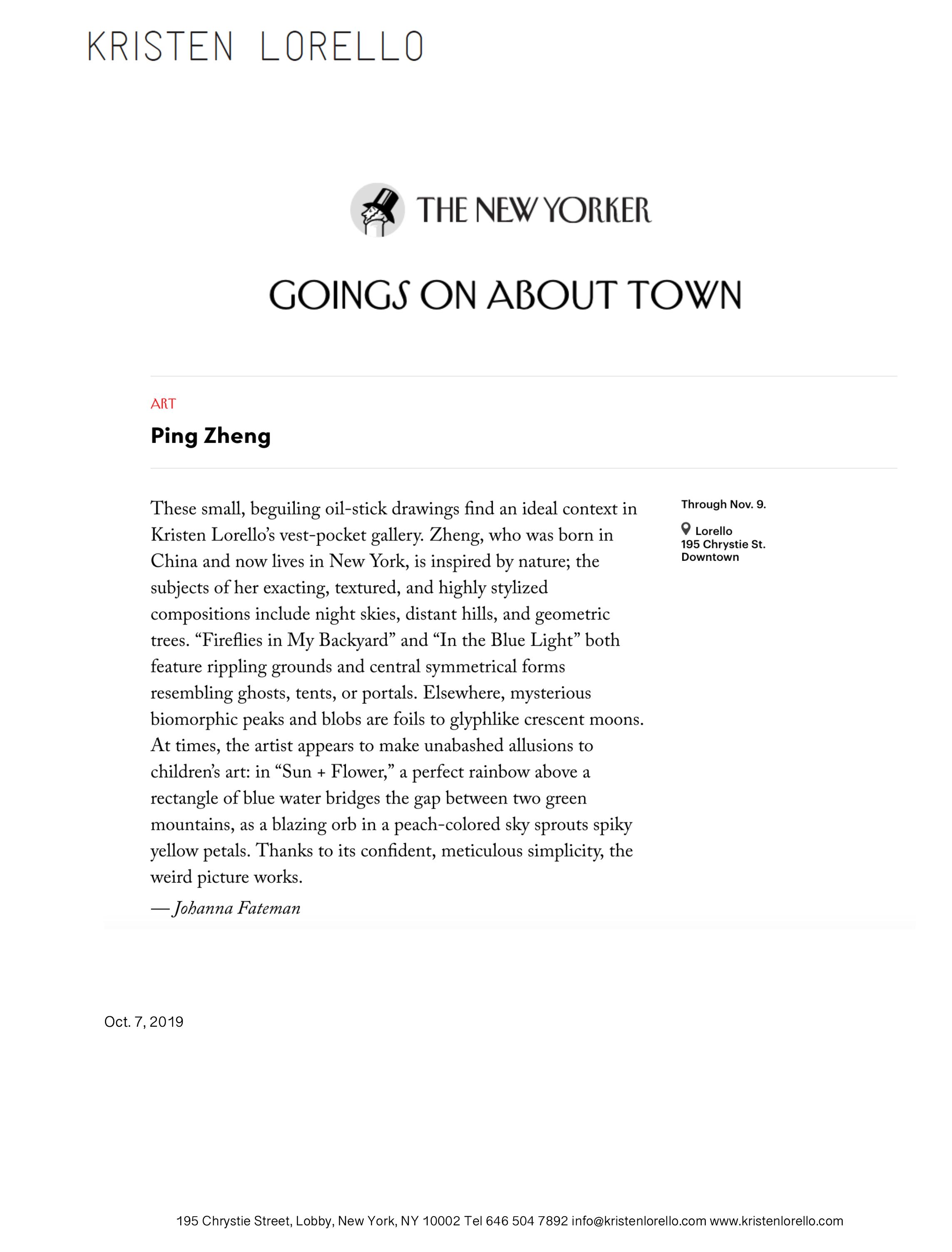 Ping Zheng - Johanna FatemanThe New YorkerOct. 7, 2019READ MORE