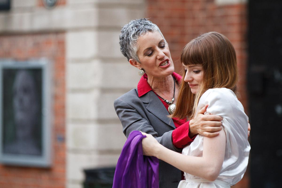 Sarah Dacey Charles as Caesar, Katie Willmorth as Calpurnia