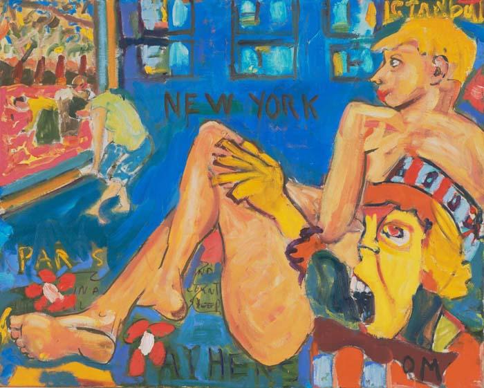 "Paris - Istanbul 36""x29"" oil on canvas"