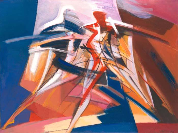 "Dancer 32""x24"" oil on canvas"